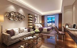 客厅公寓餐厅模型
