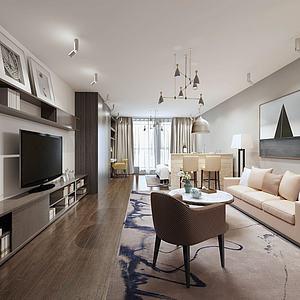 3d酒店客厅别墅公寓模型