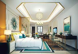 公寓别墅客厅模型