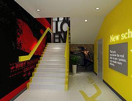 健身房楼梯间模型