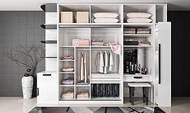 白色现代衣柜模型
