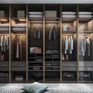 現代衣柜輕奢衣柜3d模型