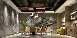 休闲餐厅模型
