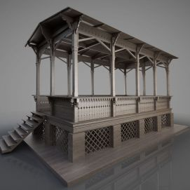 3d古建亭子模型