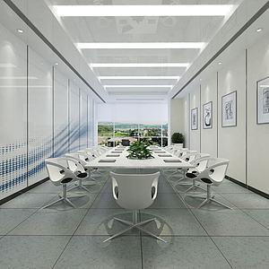 3d监控室会议室模型