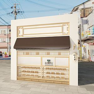 小店铺模型3d模型