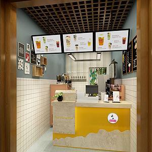 3d奶茶店模型