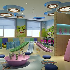 幼兒園活動區模型3d模型
