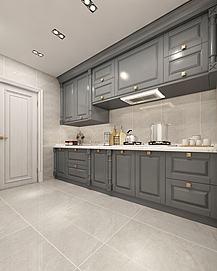 简欧整体厨房模型