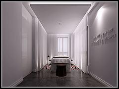 美容机构美容房间设置模型3d模型