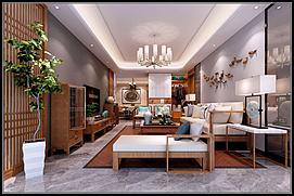 中式客厅模型
