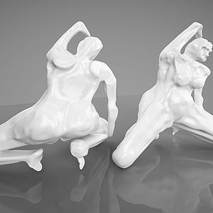 3d現代壯漢<font class='myIsRed'>雕塑</font>模型