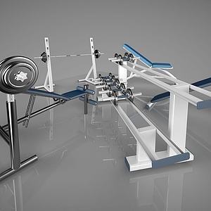 建身器材哑铃模型3d模型