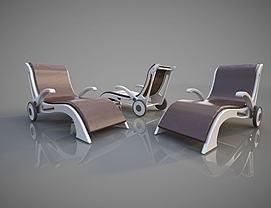 休闲椅子躺椅模型