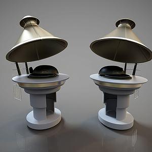 现代雕塑艺术品灶台模型