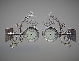 铁艺壁挂钟模型