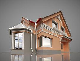 欧式小房子模型