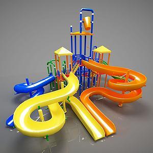幼儿游乐器材滑梯模型