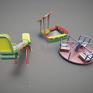 游乐健身器材跷跷板转盘模型