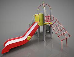 游乐设备简易滑梯模型3d模型
