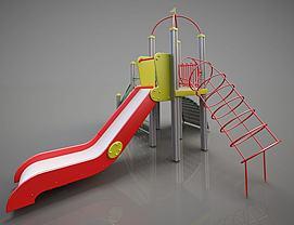 ?#21355;?#35774;备简易滑梯模型