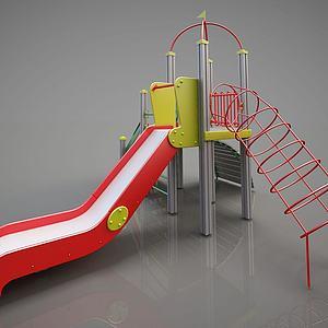 游乐设备简易滑梯模型