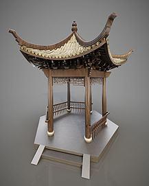 古建亭子模型