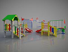 幼儿园游乐活动设备模型3d模型