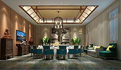 中式风格餐厅包间模型3d模型