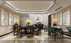 古典风格餐厅包间模型3d模型