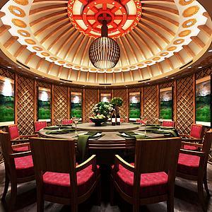 3d蒙古包餐廳客廳模型