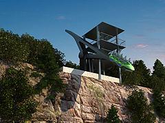 游乐设施悬崖跷跷板模型3d模型
