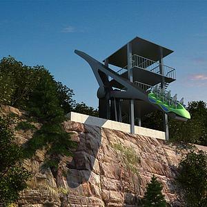 游乐设施悬崖跷跷板模型