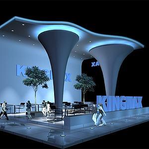 科技公司展厅模型3d模型