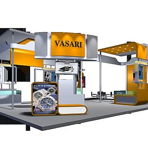 瓦莎瑞手表展厅模型3d模型