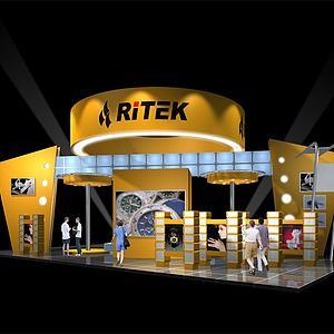 科技公司展厅模型