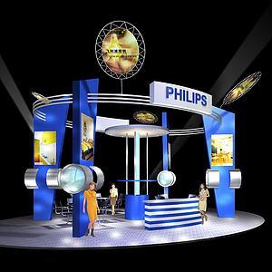 飛利浦照明展廳模型3d模型