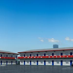 3d工地宿舍,簡易房,臨時房模型