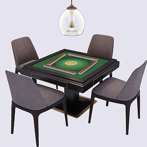 新中式麻将桌棋牌桌模型3d模型
