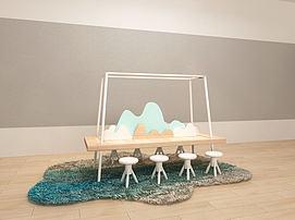儿童创意地垫桌凳组合模型