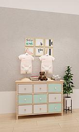 北欧风格童装斗柜展示柜模型