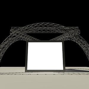 铁艺半圆形展览行架模型