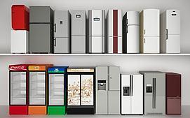 现代冰箱冰柜饮料柜组合模型