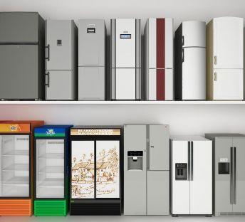 现代冰箱冰柜饮料柜组合