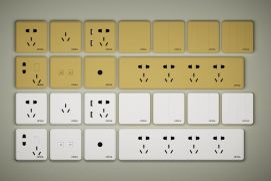 常用开关插座面板插板组合模型