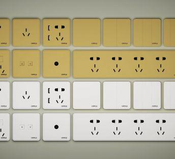 常用开关插座面板插板组合