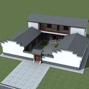 中式建筑四合院模型3d模型