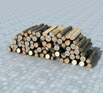 堆积的木头柴火