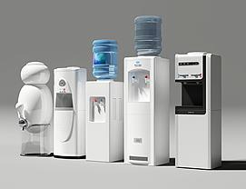 现代新式智能饮水机组合模型