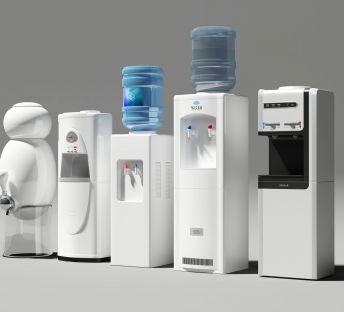 现代新式智能饮水机组合
